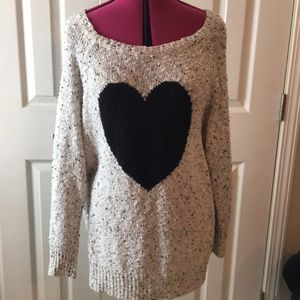 Torrid grey black heart sweater 2 (2x)